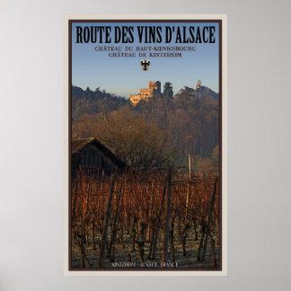Chateaus Kintzheim and Koenigsbourg Poster