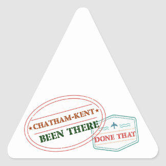 Chatham-Kent Been there done that Triangle Sticker