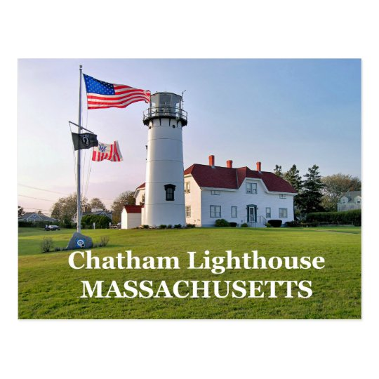 Chatham Lighthouse, Massachusetts Postcard
