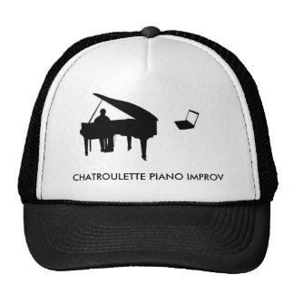 CHATROULETTE PIANO IMPROV TRUCKER HATS
