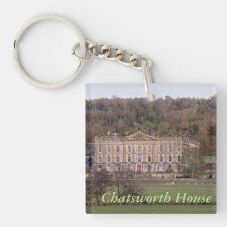 Chatsworth House Double-Sided Square Acrylic Key Ring