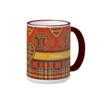 Chattan clan Plaid Scottish tartan Ringer Mug