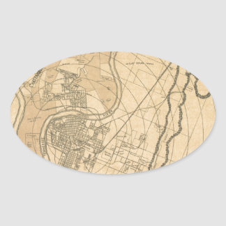 Chattanooga Tennessee 1870 Oval Sticker