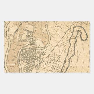 Chattanooga Tennessee 1870 Rectangular Sticker