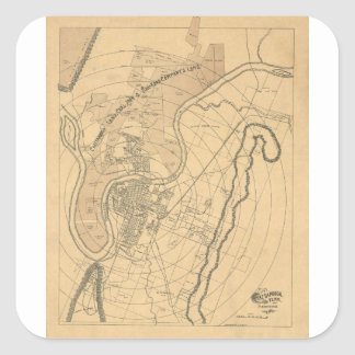 Chattanooga Tennessee 1870 Square Sticker