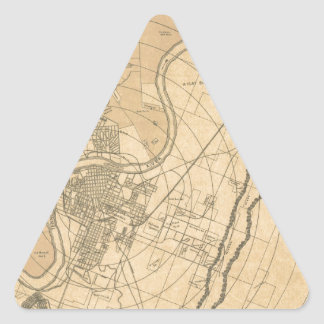 Chattanooga Tennessee 1870 Triangle Sticker