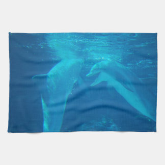Chatting Dolphin Pair Kitchen Towel