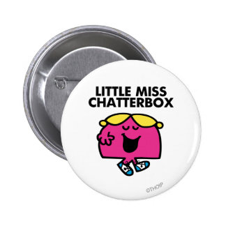 Chatting With Little Miss Chatterbox 2 Inch Round Button