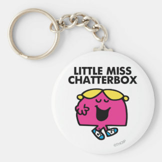 Chatting With Little Miss Chatterbox Basic Round Button Key Ring