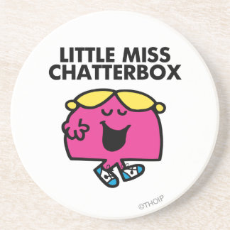 Chatting With Little Miss Chatterbox Drink Coaster