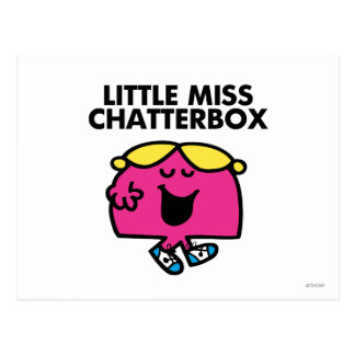 Chatting With Little Miss Chatterbox Postcard