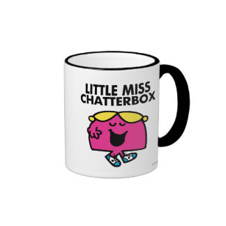 Chatting With Little Miss Chatterbox Ringer Mug