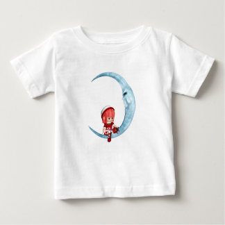 Chatting With the Moon - Baby Fine Jersey T-Shirt
