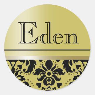 """Chaucer Sticker """"Eden"""" (golden/black)"""
