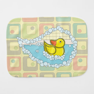Chaucer the Rubber Duck Burp Cloth