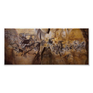 Chauvet Cave painting Poster