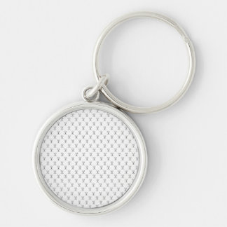 Chaveiro 3,7cm Mesh Arch Search Silver-Colored Round Key Ring