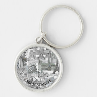 Chaveiro 3,7cm Mural Arch Search Key Ring