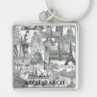 Chaveiro 5,1cm Mural Arch Search Key Ring