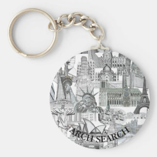 Chaveiro 5,7cm Mural Arch Search Basic Round Button Key Ring