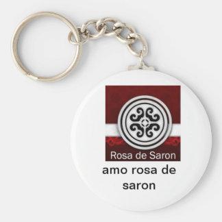 chaveiro basic round button key ring