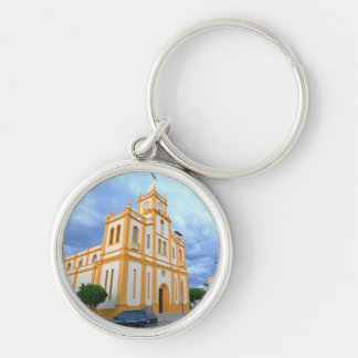 Chaveiro church of tabira Silver-Colored round key ring