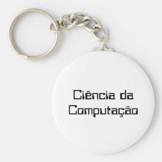 Chaveiro Computer science Basic Round Button Key Ring