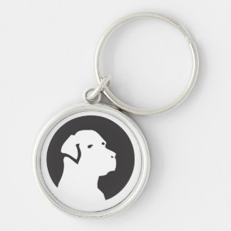 Chaveiro Cultural Matilha Silver-Colored Round Key Ring