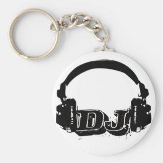 chaveiro dj basic round button key ring