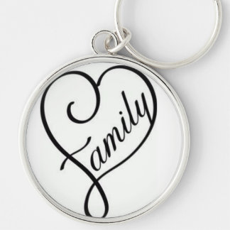 Chaveiro Great Redondo Family Silver-Colored Round Key Ring