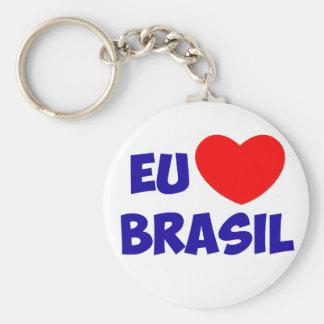Chaveiro I love Brazil Basic Round Button Key Ring