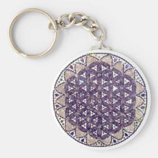 Chaveiro Mandala Flower of the Life Amethyst Key Ring