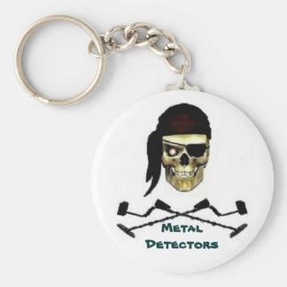 Chaveiro Metal Detector 01 Basic Round Button Key Ring
