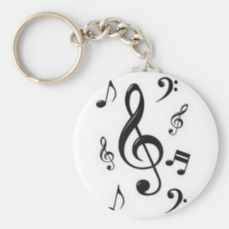 Chaveiro musical claves basic round button key ring