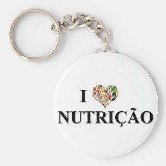 chaveiro nutrição01 basic round button key ring