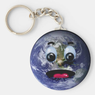 Chaveiro Scared Planet Land Basic Round Button Key Ring
