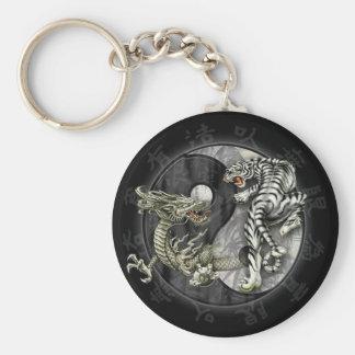 Chaveiro Tigre and Dração Key Ring