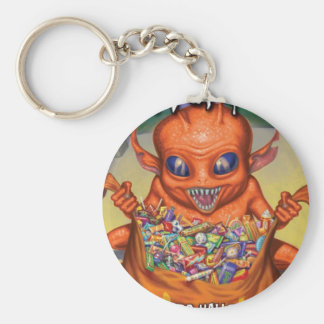 chaveiro: TRICK OR TREAT ON HALLOWEENIGHT Basic Round Button Key Ring