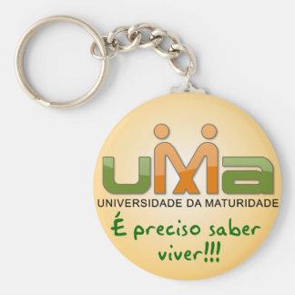 Chaveiro UMA Is necessary knowledge to live Yellow Key Ring