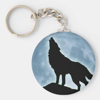 "Chaveiro ""Wolf "" Basic Round Button Key Ring"