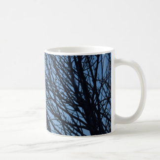 Chávena with moon and illustrated silhouette of coffee mug