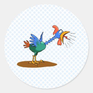 Chaz Chicken Round Sticker