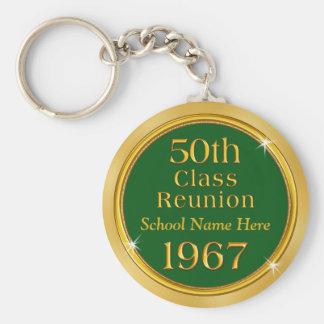 Cheap 50th Class Reunion Keychains, School Name Key Ring