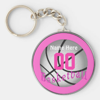 Cheap Basketball Gifts for Girls Team Basic Round Button Key Ring