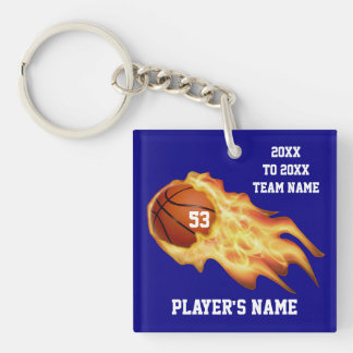 Cheap Basketball Gifts for Players PERSONALIZED Double-Sided Square Acrylic Key Ring