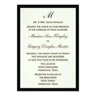 """Cheap Budget Wedding Invitation Pick Border Color 5"""" X 7"""" Invitation Card"""