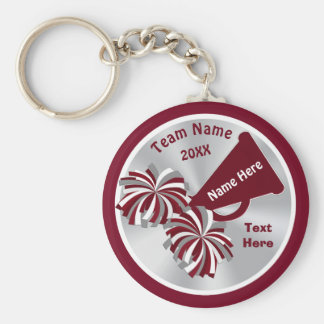 Cheap Cheerleader Gifts Personalized in Your COLOR Key Ring