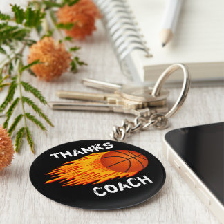 Cheap Customizable Coach Gift Ideas Basketball Key Ring