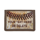 Cheap Faux Vintage Personalised Baseball Wallet