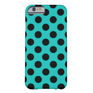 Cheap New Large Blue & Black Polka Dot Pattern Barely There iPhone 6 Case